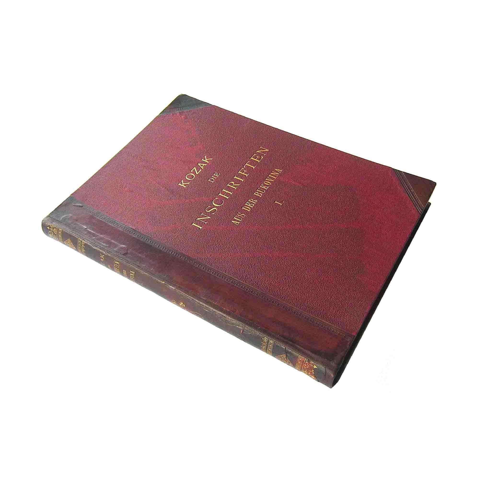 5580 Kozak Inschriften Bukovina 1903 Einband frei N