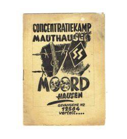 Mauthausen Erlebnisbeericht Niederländisch 1945 1946 Umschlag frei