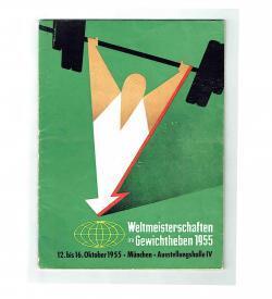 WM Gewichtheben 1955 Umschlag