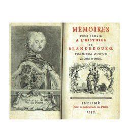 Friedrich II Mémoires Brandenbourg 1758 Titel Frontispiz Friedrich