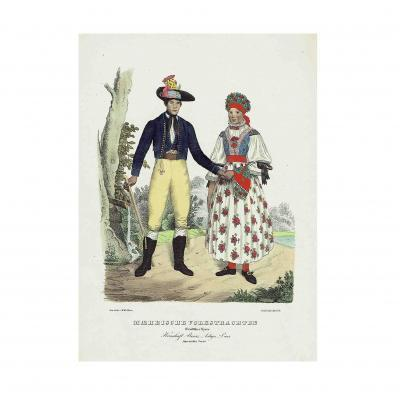 Horn Maehrische Trachten 1837 Altpreussen