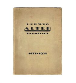 Katalog Alter Möbel Darmstadt 1921 Umschlag