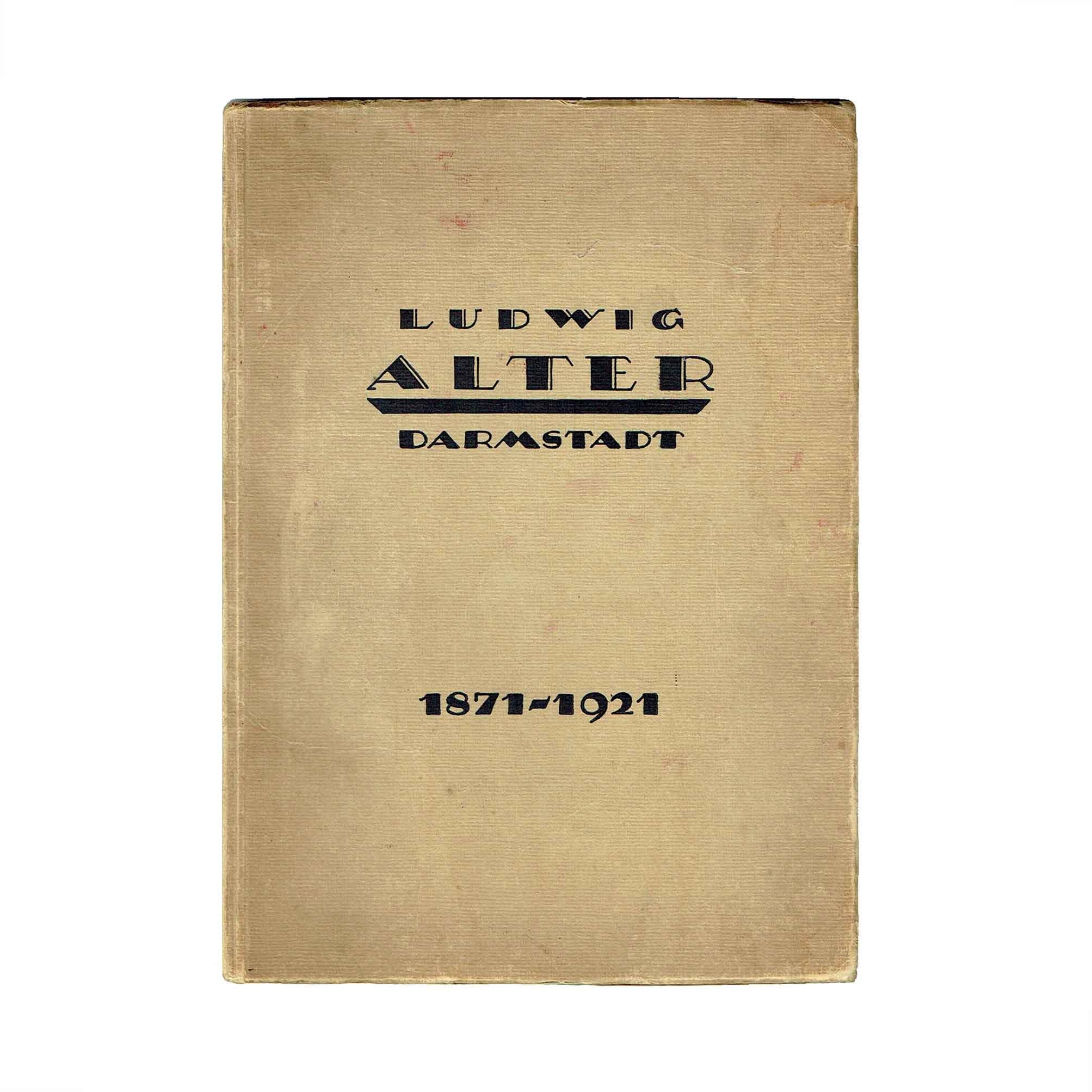 5623 Katalog Alter Möbel Darmstadt 1921 Umschlag frei N