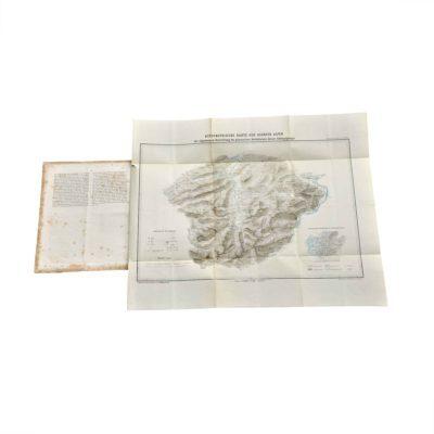 Waltenberger Orographie Allgäuer Alpen 1872 Karte