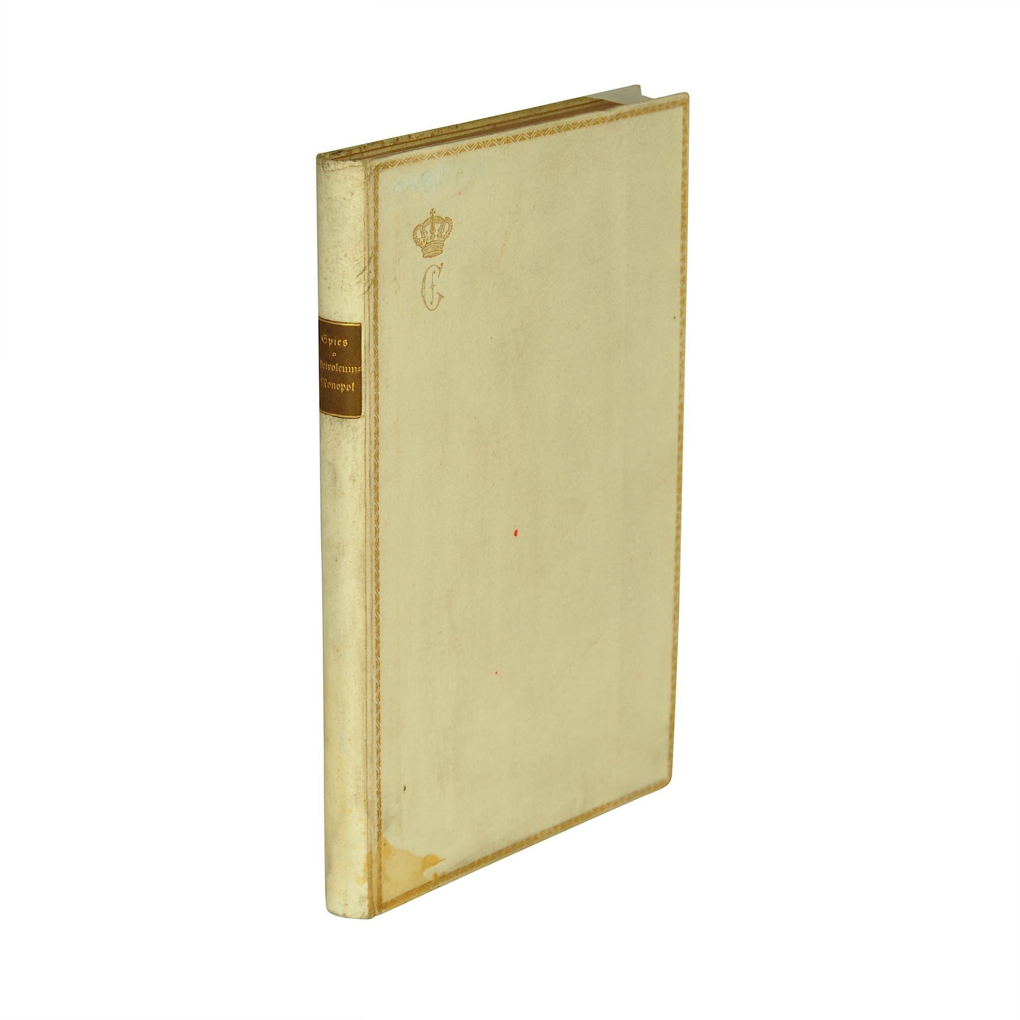 5518 Spies Petrolium Einband Carol 1913 frei 1 A N