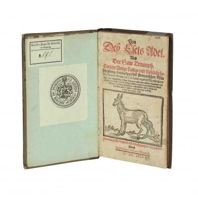 Banchieri Messerschid Esel Adel 1617 Titel Ex Libris aufgestellt