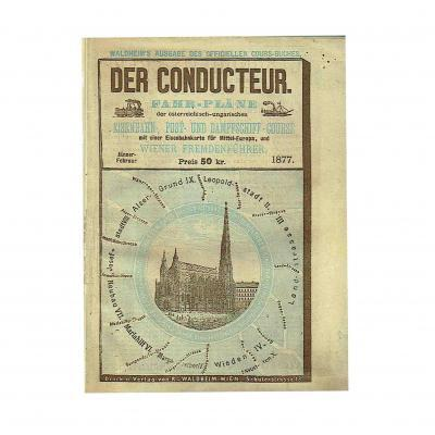 Conducteur Fahrplan Eisenbahn 1877 Wien Stephansdom