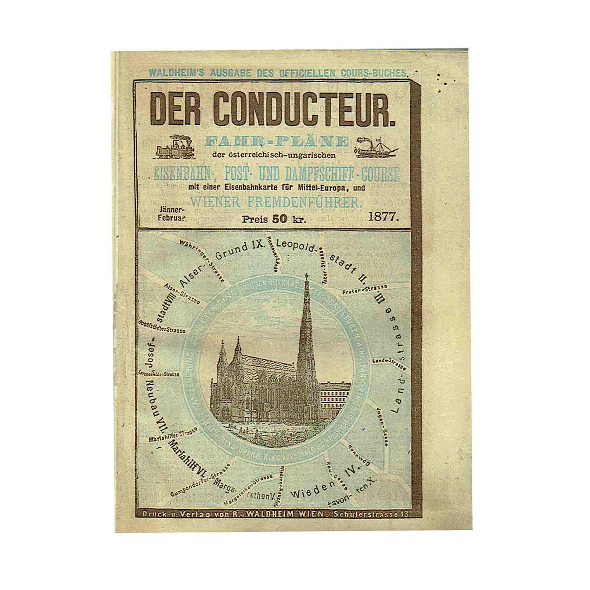 5628 Conducteur Fahrplan Eisenbahn 1877 N