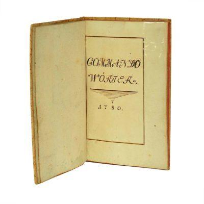 Commando Wörter Handschift Kavallerie Österreich 1780 Titel