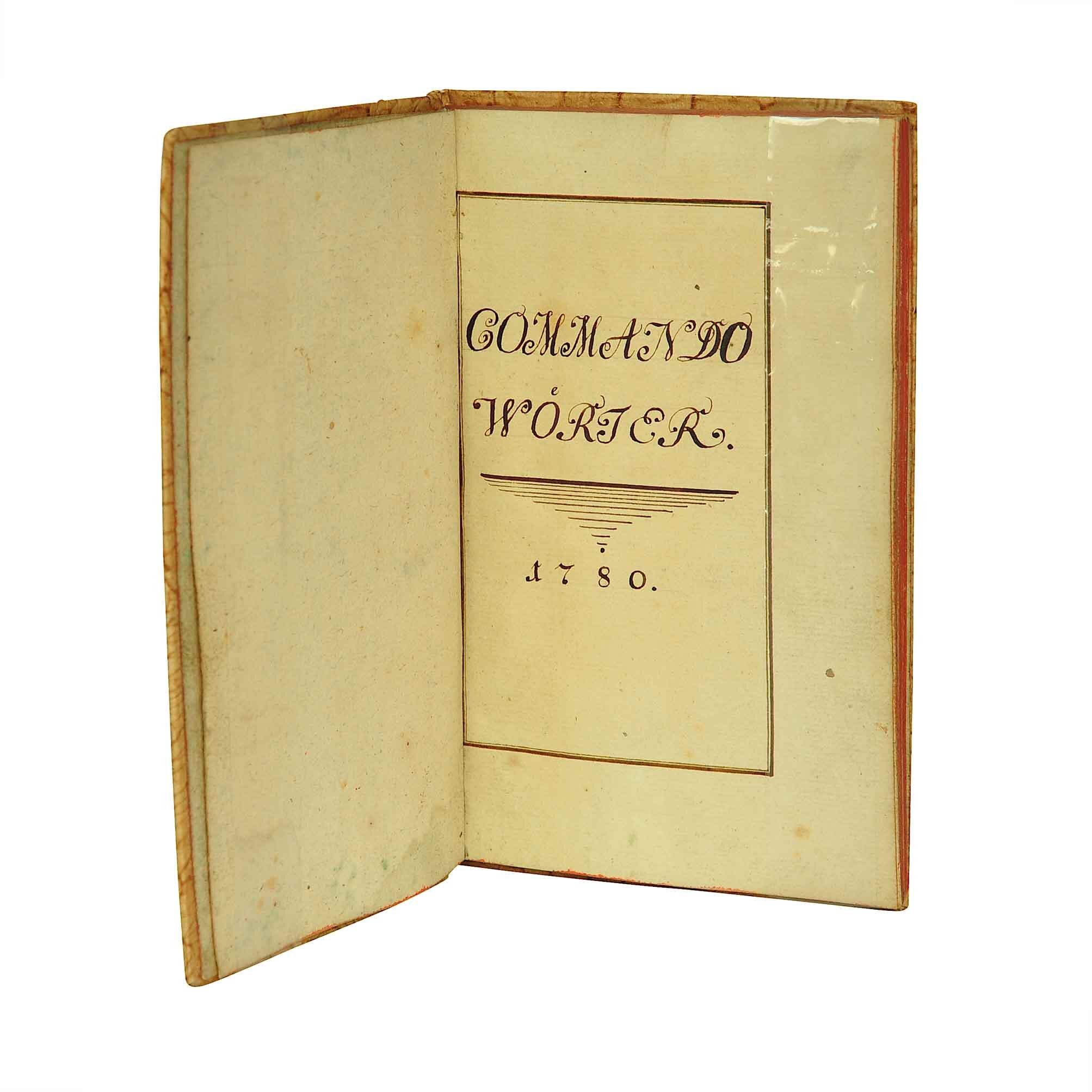 5637 Commando Wörter Handschift Kavallerie Österreich 1780 Titel A N