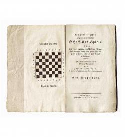 Dollinger Schach 1806 Titel Kupfer Schachbrett