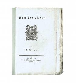 Heine Buch der Lieder 1827 Titelblatt Vorzug Bütten