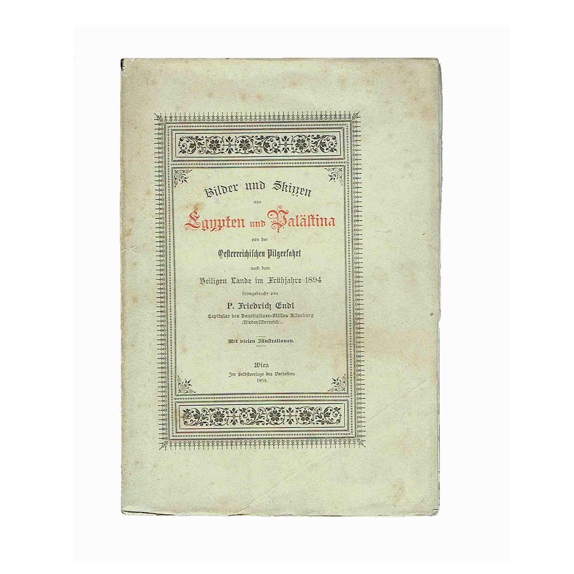 5643 Endl Palästina 1894 Umschlag frei N