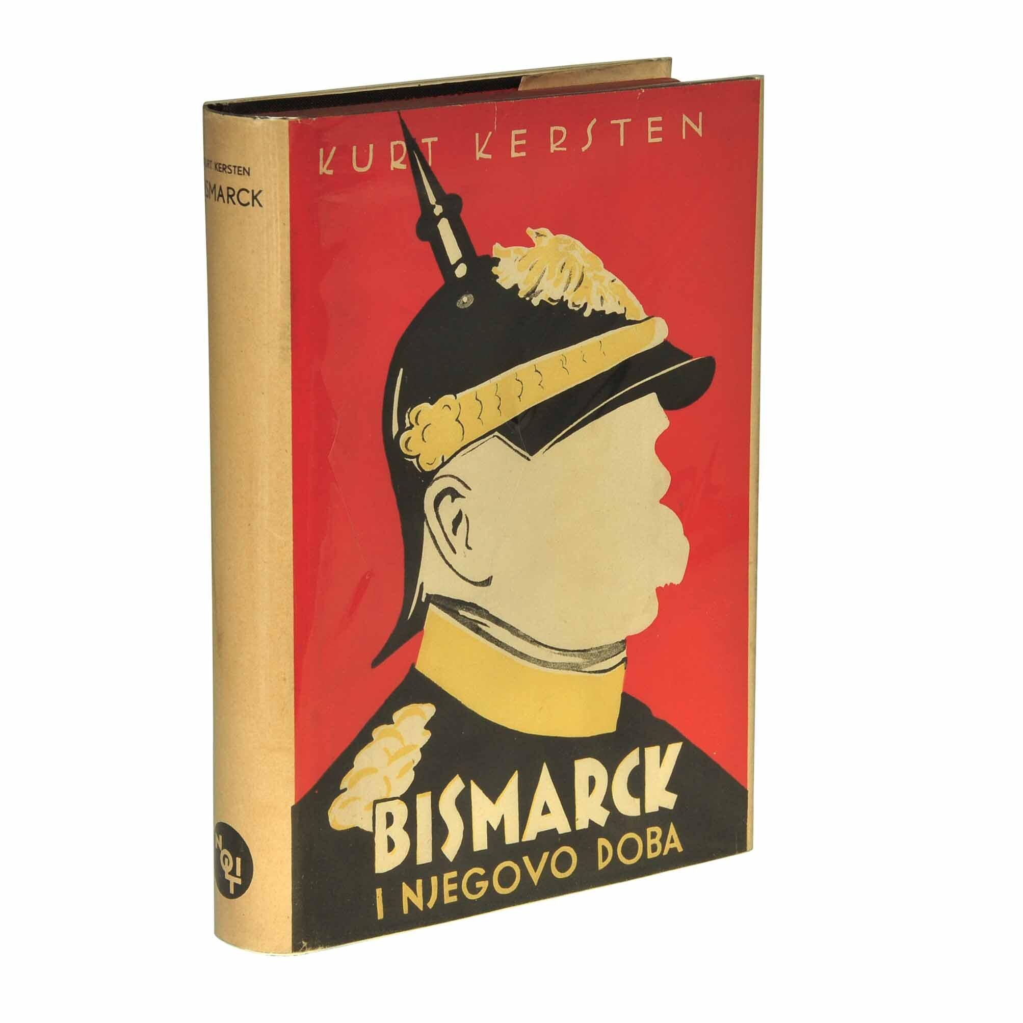 5654 Kersten Bihaly Bismarck Nolit 1936 Umschlag recto Rücken A N