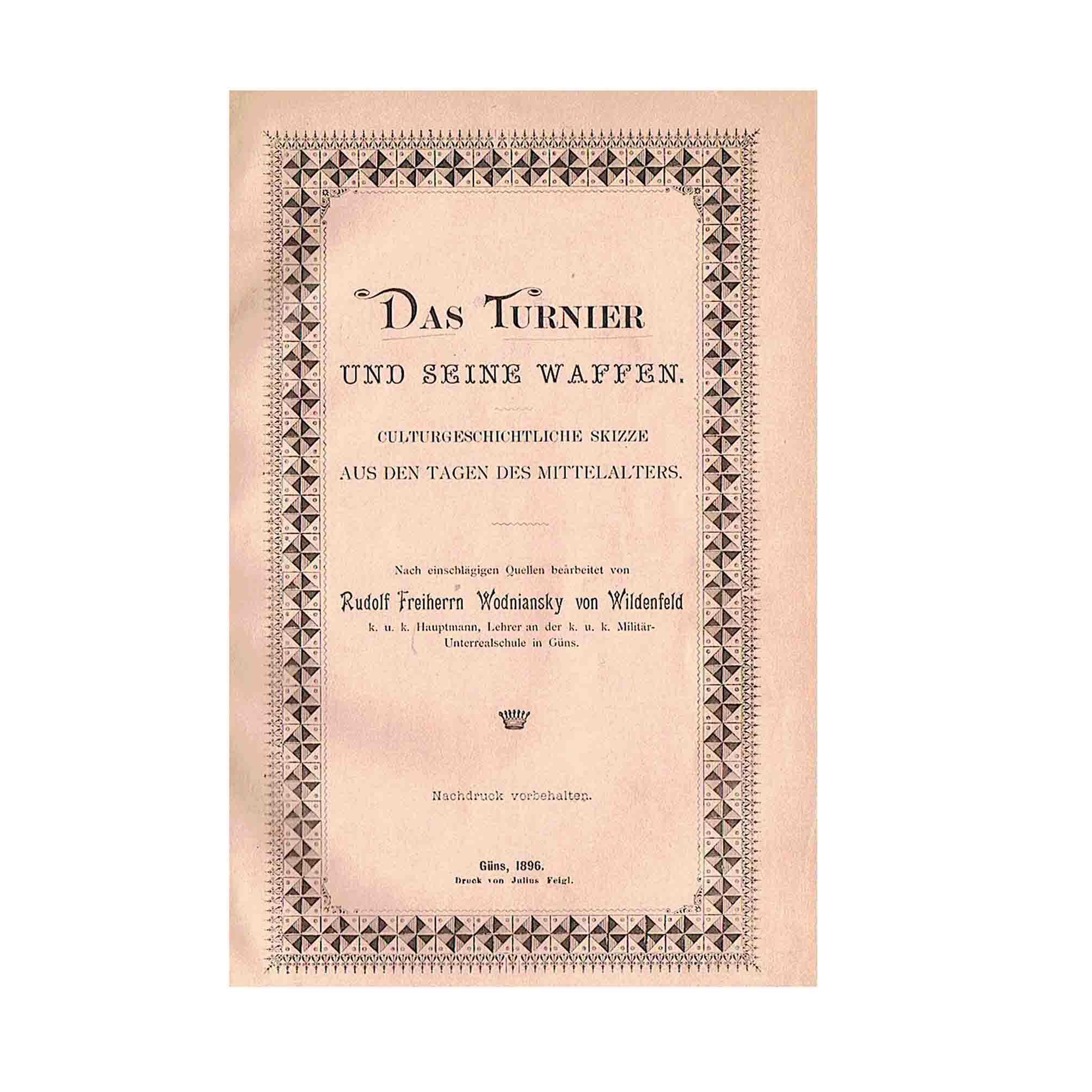 5656 Wodniansky Turnier Güns 1896 Titel N