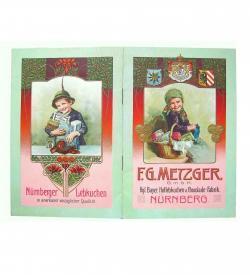 Erlesener Weihnachtskatalog der auf das 16. Jahrhundert zurückgehenden Nürnberger Lebküchnerei F. G. Metzger.