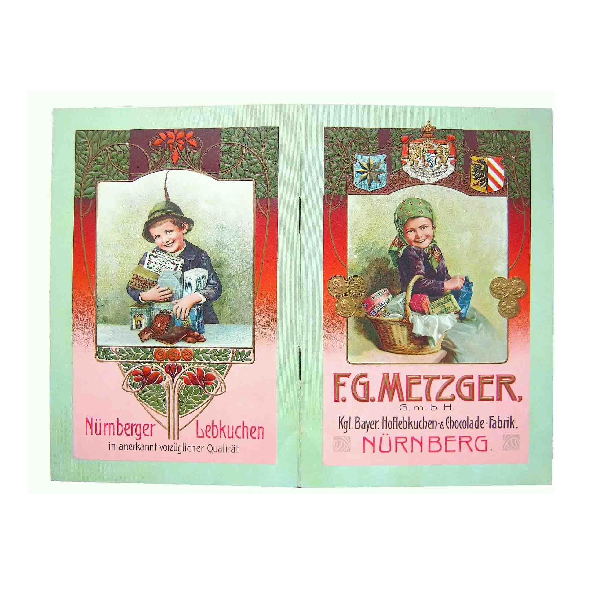 5661 Katalog Metzger Lebkuchen Nuernberg 1913 Umschlag frei N