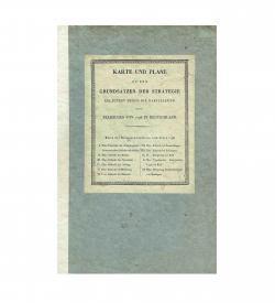 Sehr seltener Atlasband zum militärischen Kartenwerk über den napoleonischen Feldzug entlang des Rheins und durch Süddeutschland im Jahr 1796.