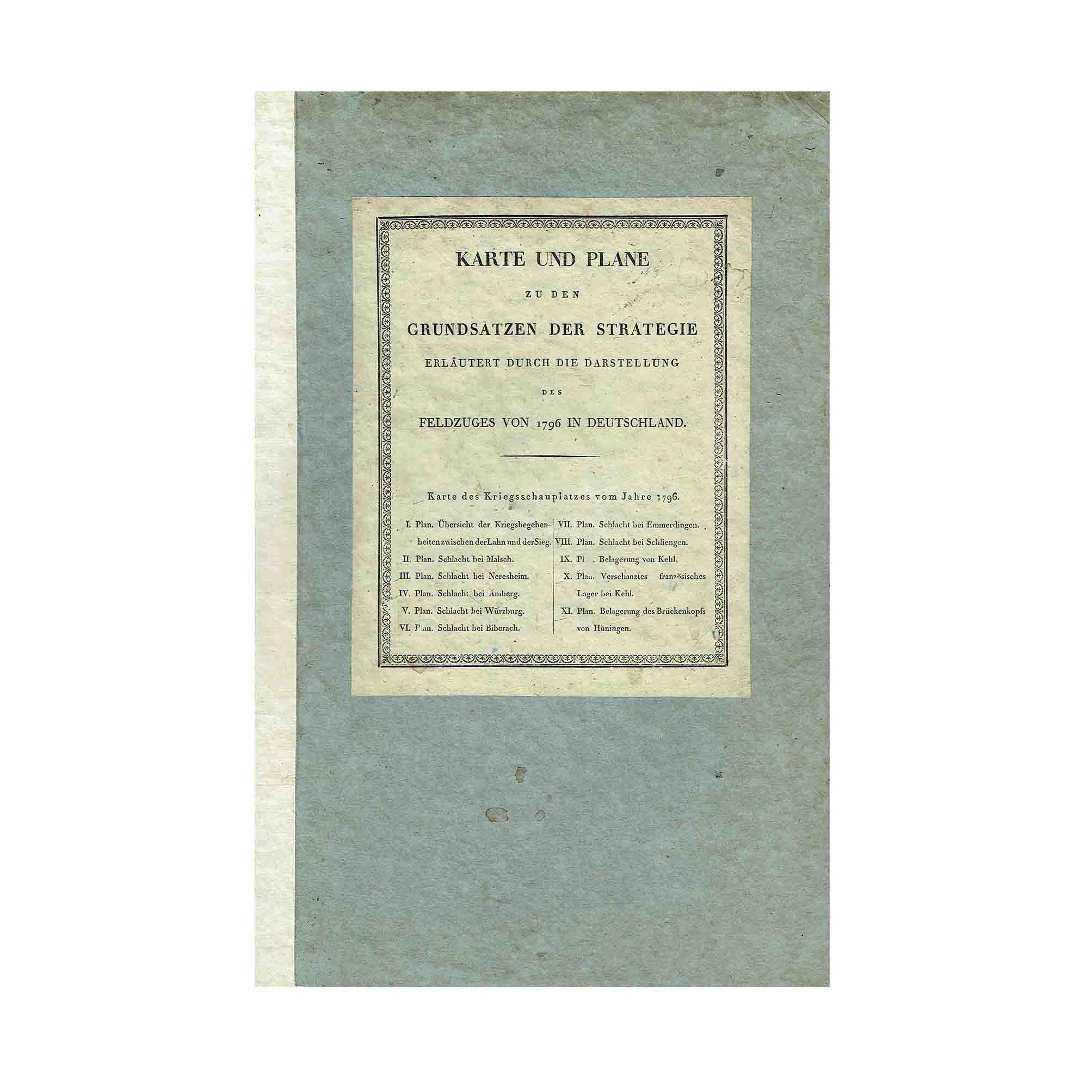 Karl Karte Plane Strategie Napoleon 1813 Einband A N