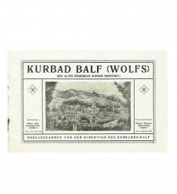 Prospekt Kurbad Balf 1900 Umschlag Illustration