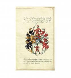 Adelsdiplom für Georg (György) Keszthelyi (1721), illustrierter Notarsakt, 1894