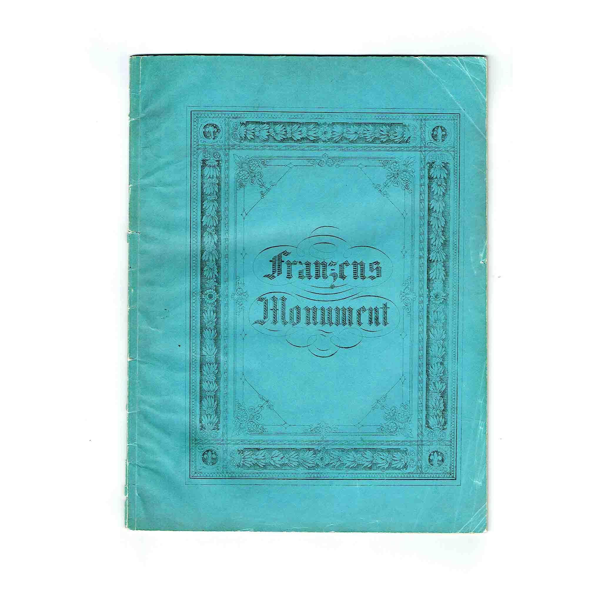 5677 Festschrift Franzensstatue Graz 1841 Umschlag vorne N