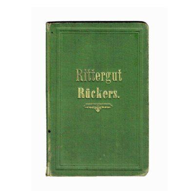 Handgezeichnete, aquarellierte Karte des niederschlesischen Herrschaft Rückers, 1902