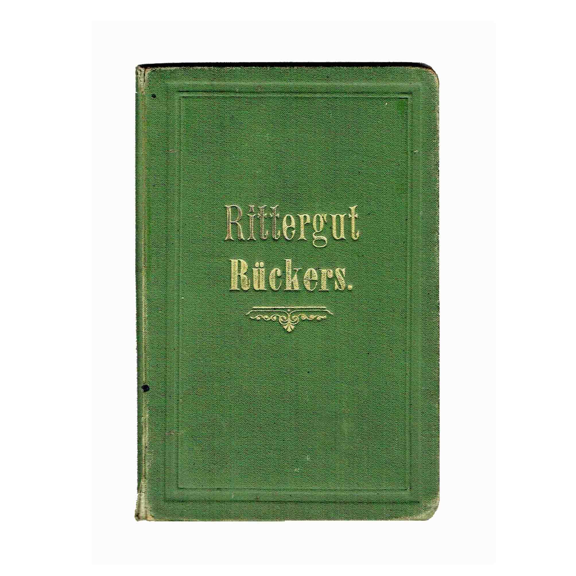 5678 Karte Rückers Glatz 1902 Einband frei N