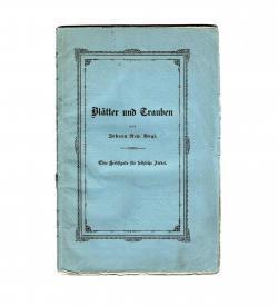 Erstausgabe von Vogls »Wein-, Trink-, Keller- und Tafellieder«, u.a. von F. X. W. Mozart und F. v. Suppé, 1843