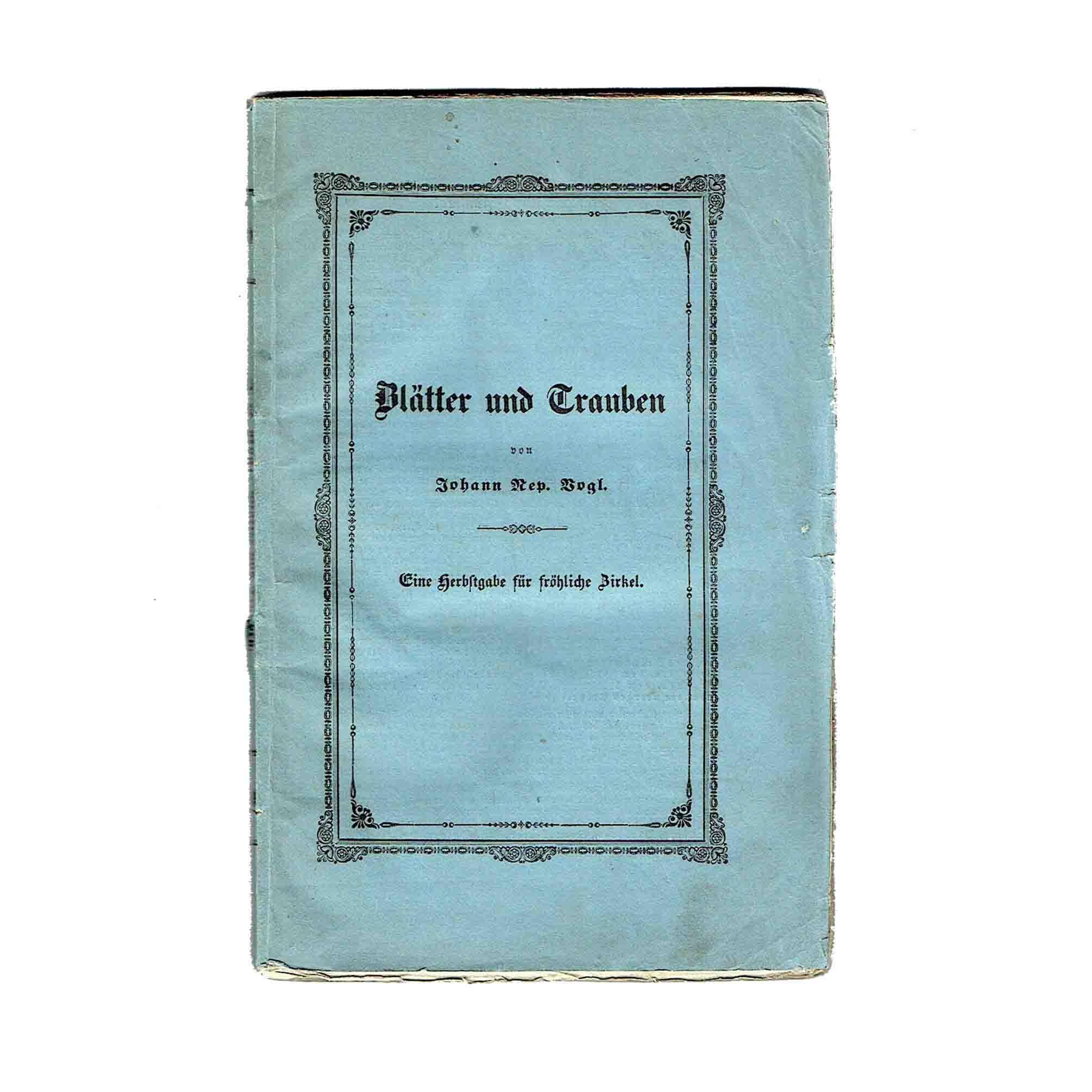 5679 Vogl Blaetter Trauben Lieder 1843 Umschlag vorne frei N