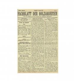 Seltene deutsche Zeitschrift der gewerkschaftlichen Holzarbeiter in Ungarn, 1912