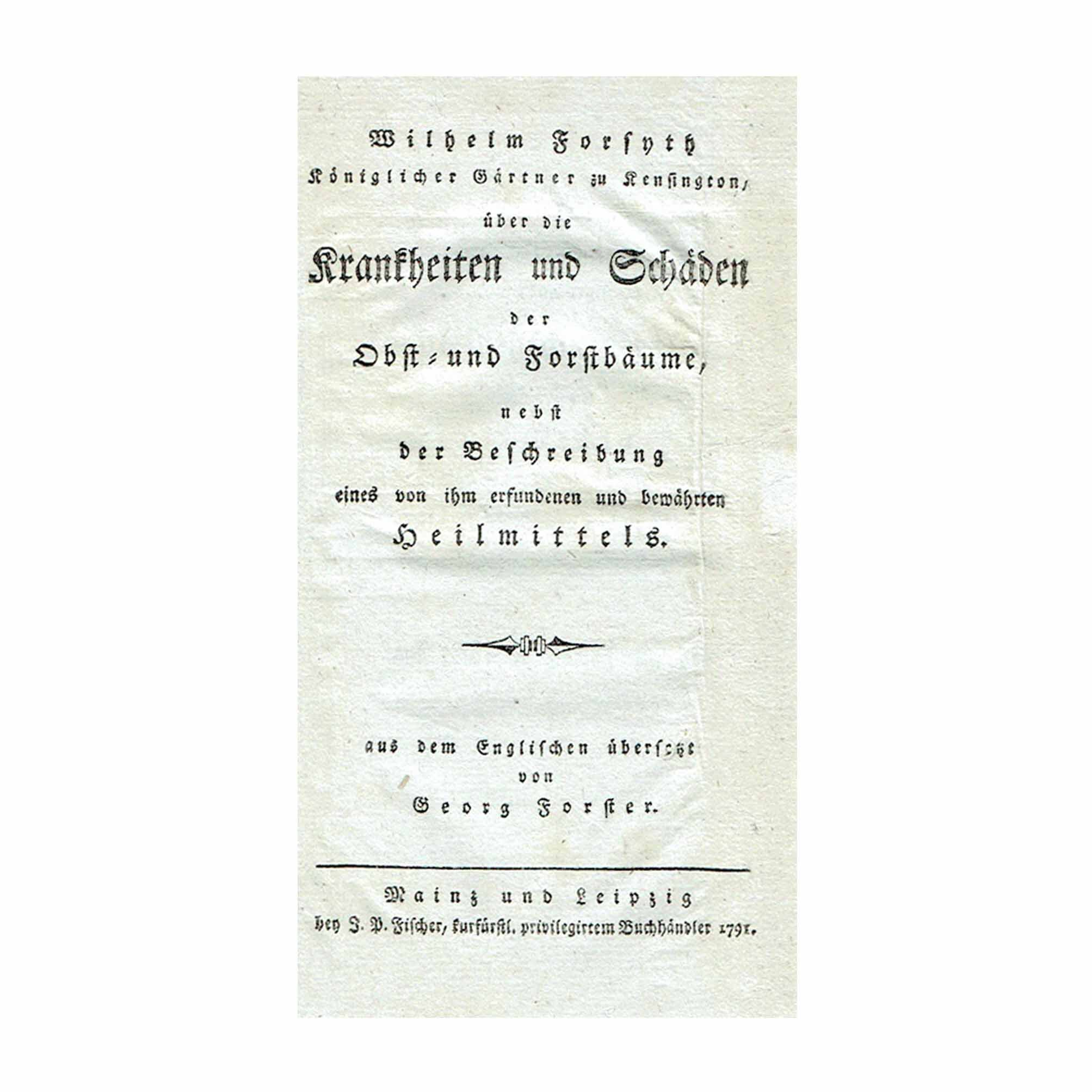 5792 Forsyth Forster Bäume 1791 Titelblatt A N