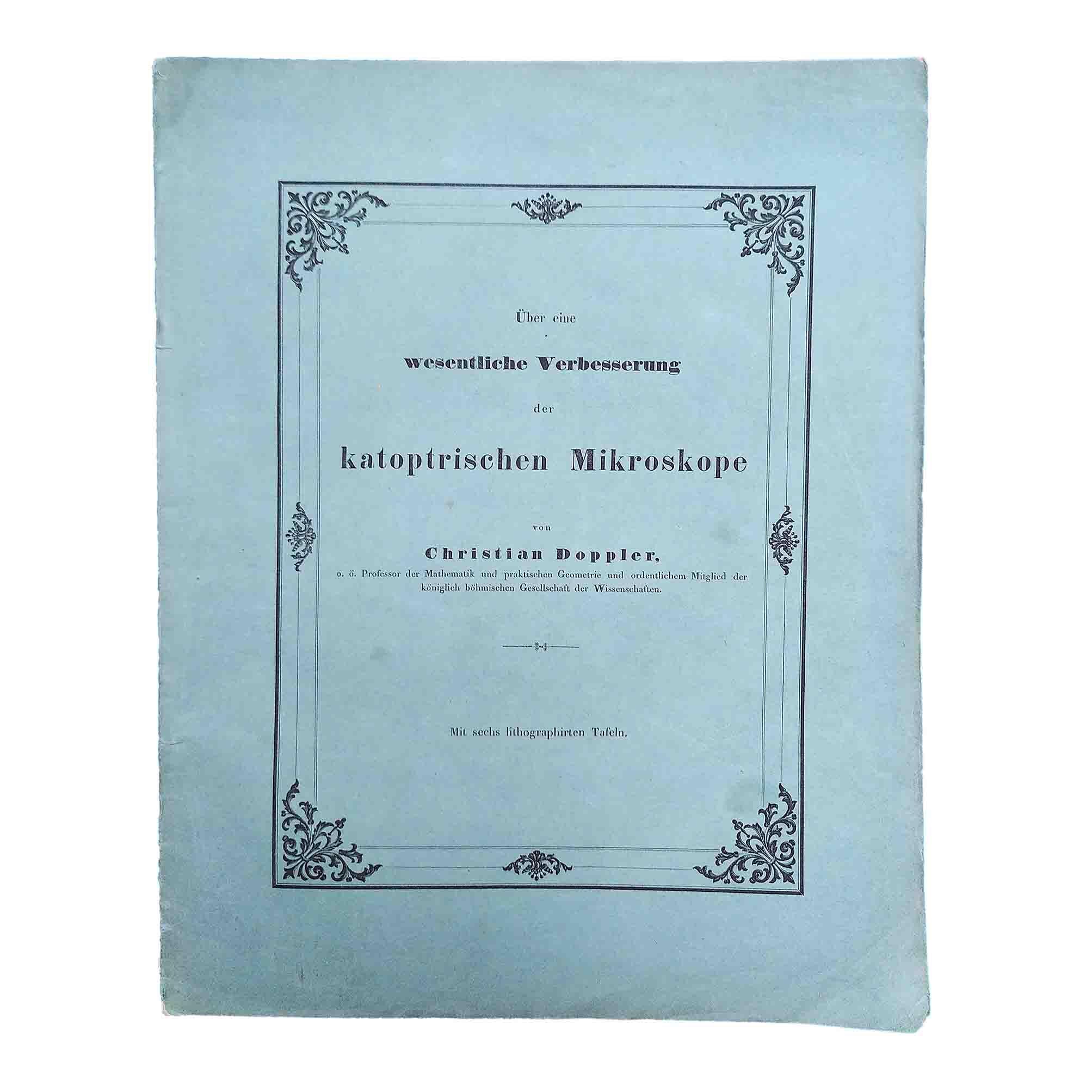Doppler Katoptrischen Mikroskope 1845 recto free N