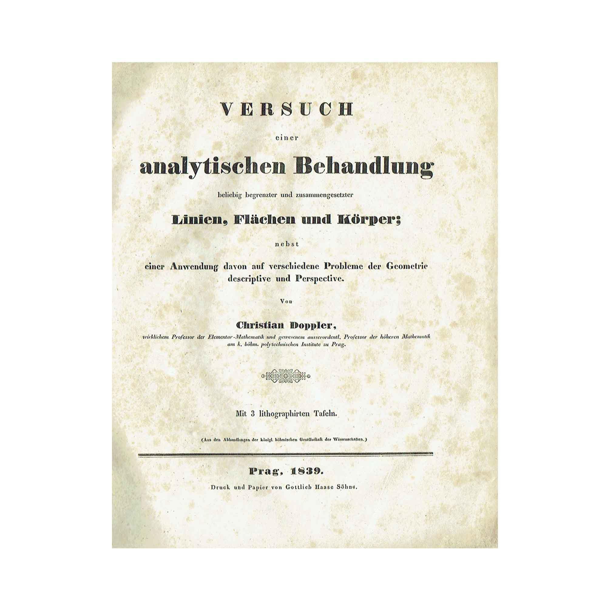 5843K Doppler Geometrie 1839 title page A N