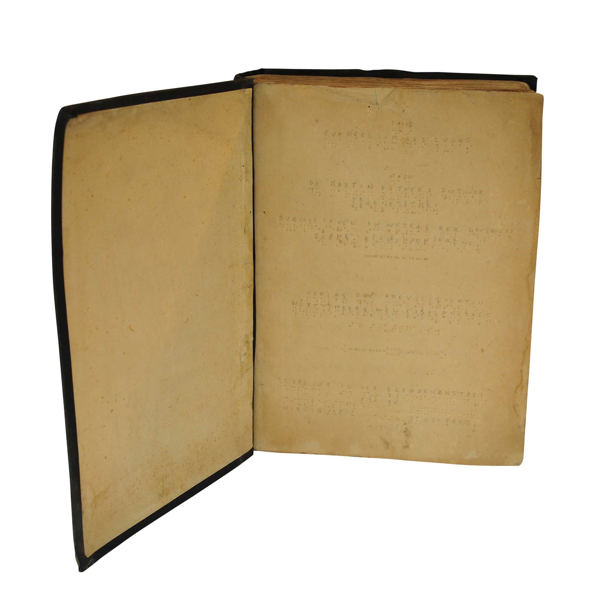 5585 Evangelium Lukas Braille 1908 Titel frei N