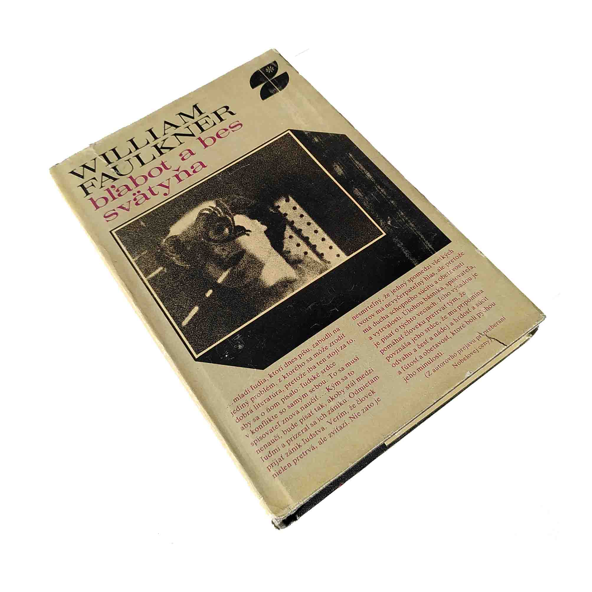5915 Faulkner Sound Fury Slovak First Edition 1978 Dust Jacket recto free N