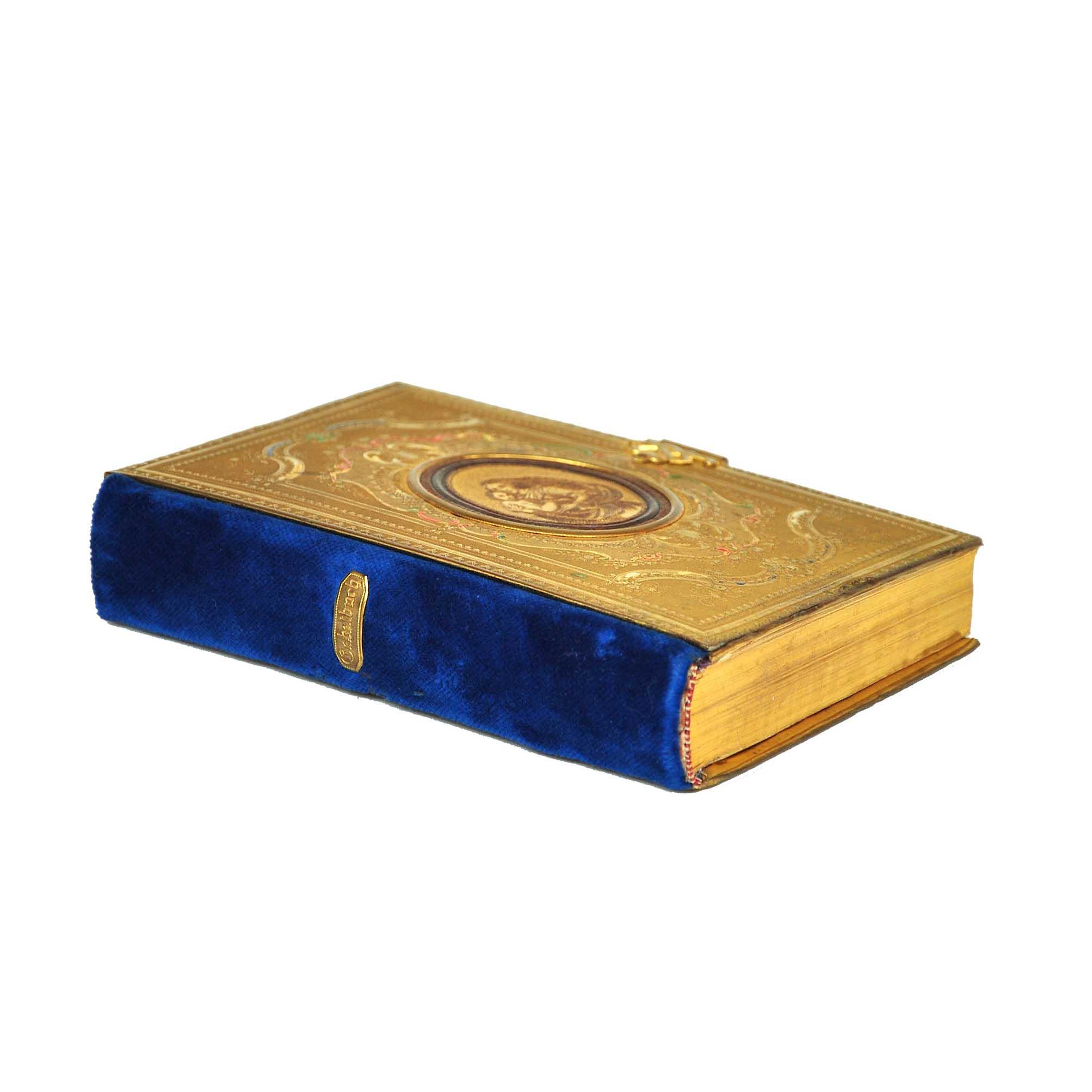 5894 Binding Eckhartshausen Gebetsbuch Ruecken Schnitt frei N