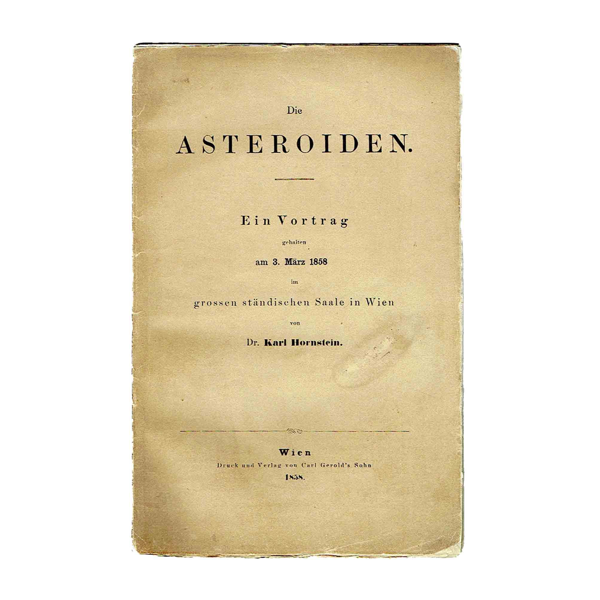 5908K Hornstein Asteroiden 1858 Umschlag recto frei N