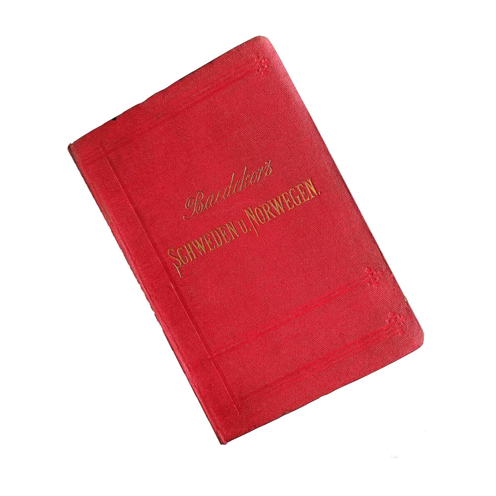 5942 Baedeker Schweden Norwegen 1882 Einband A frei N