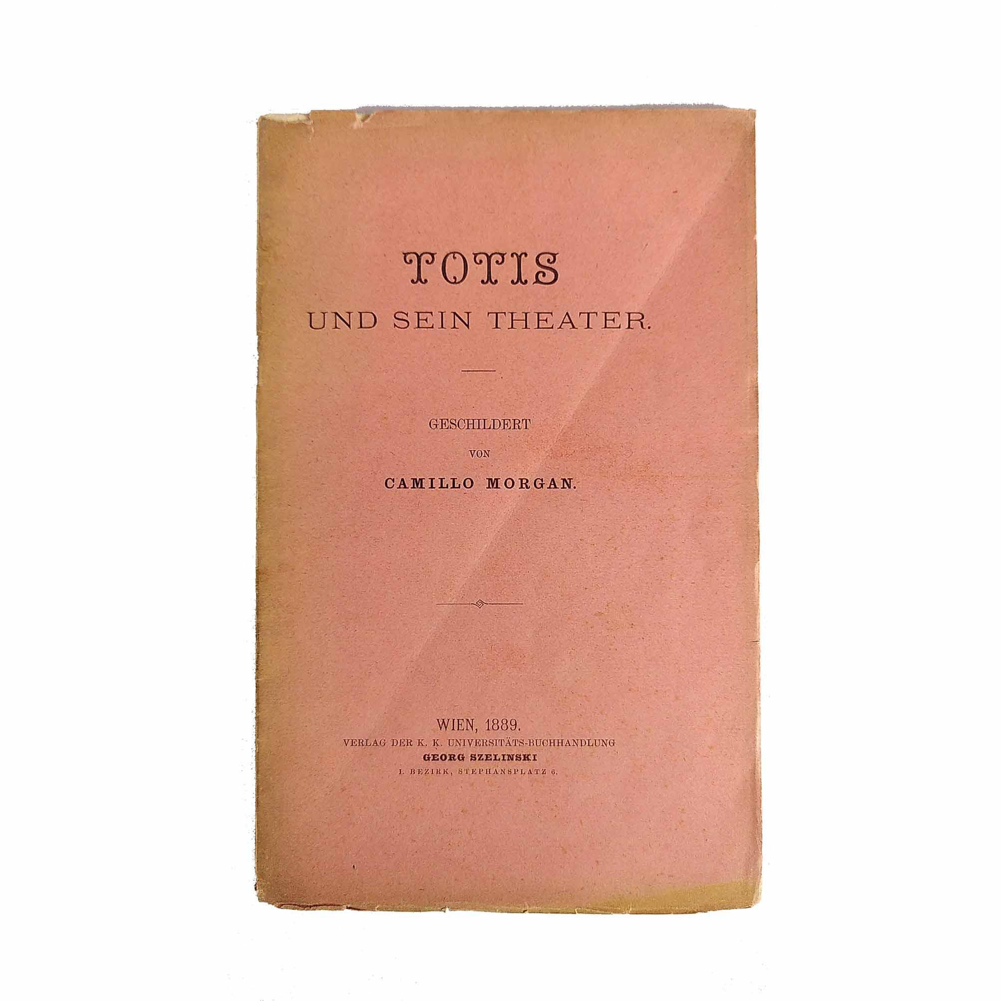 5949 Morgan Totis Theater 1889 Umschlag frei N