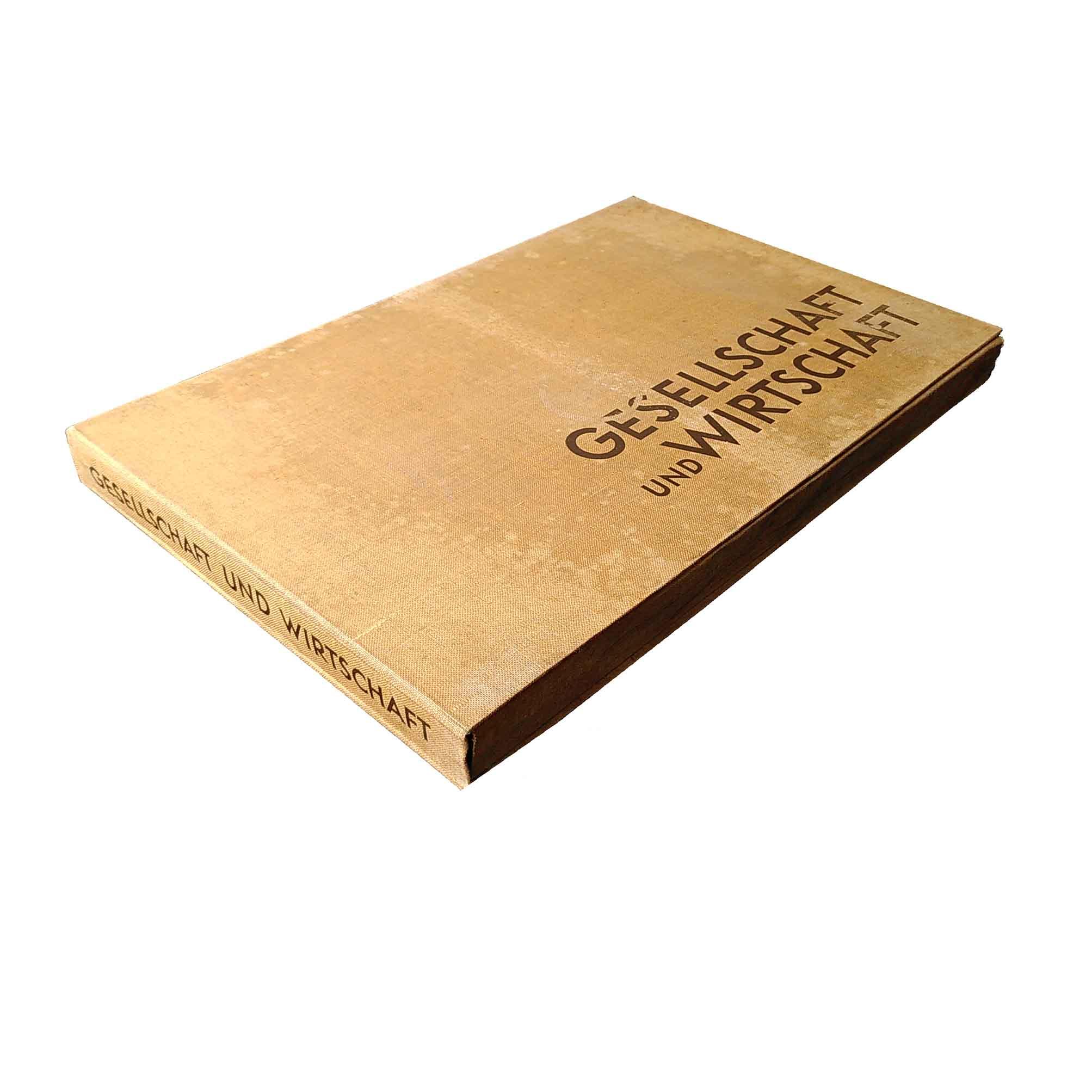 Neurath Gesellschaft Wirtschaft Atlas 1930 Clamshell Box Spine free N