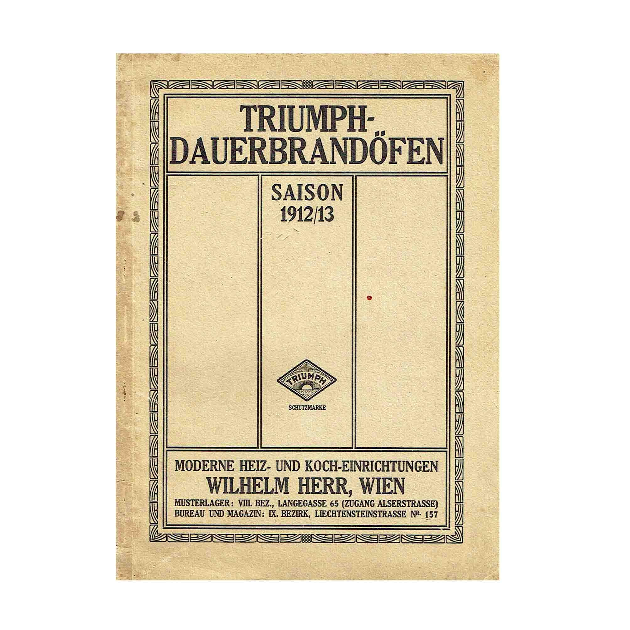 5962 Herr Öfen Katalog 1912 Umschlag N