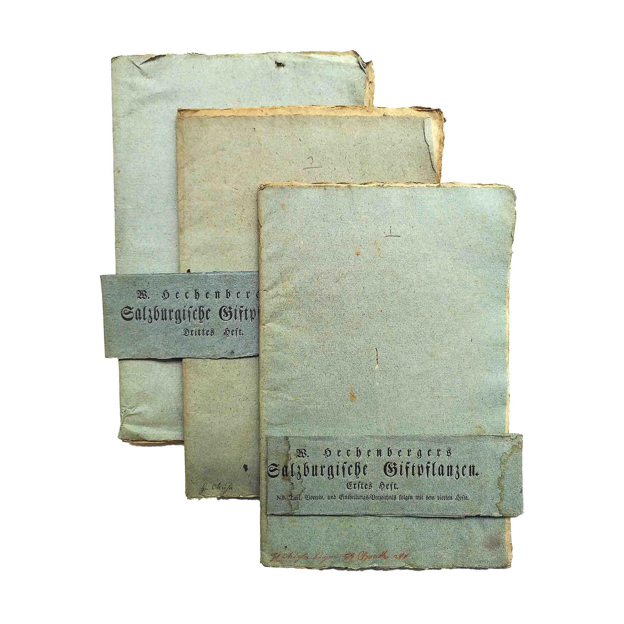 5965 Hechenberger Salzburgische Giftpflanzen 1810 Umschlaege N