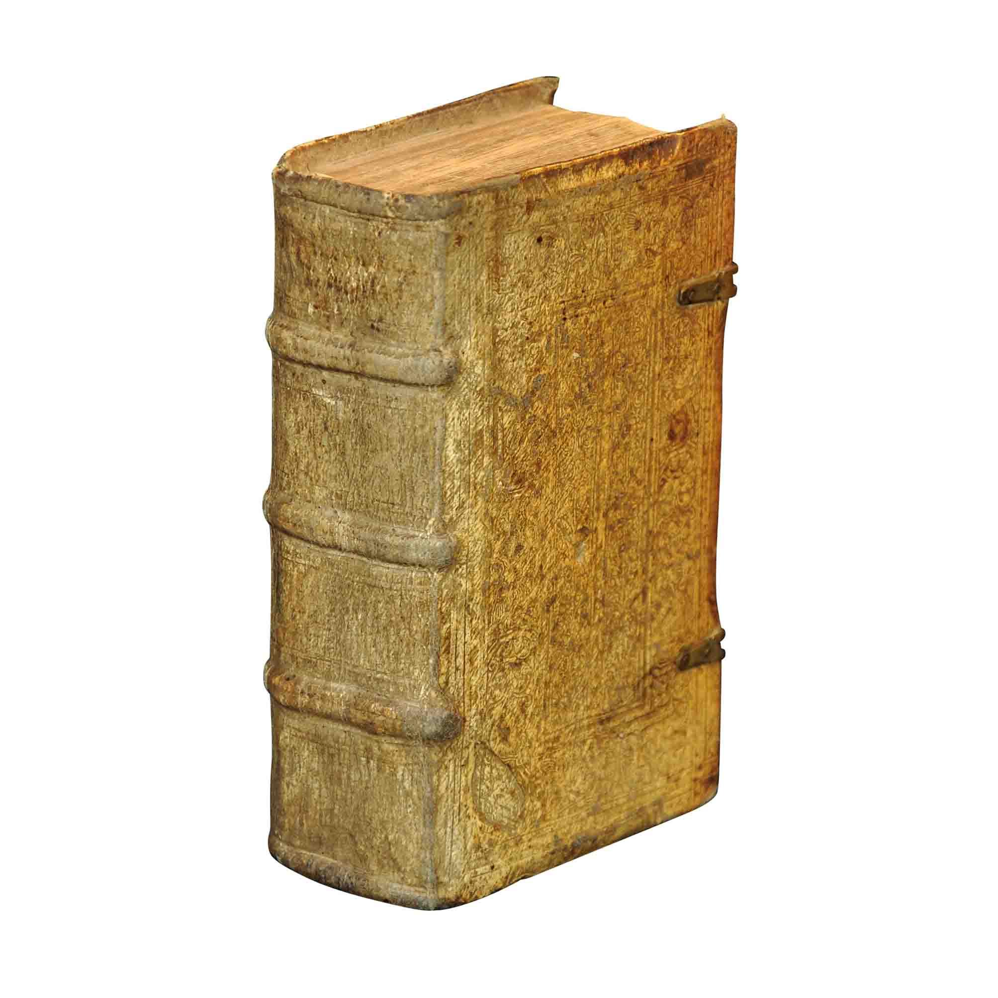 5913K Sammelband Reformation Wittenberg Mathematik Astronomie Musik 1538 1548 Einband Ruecken frei A N