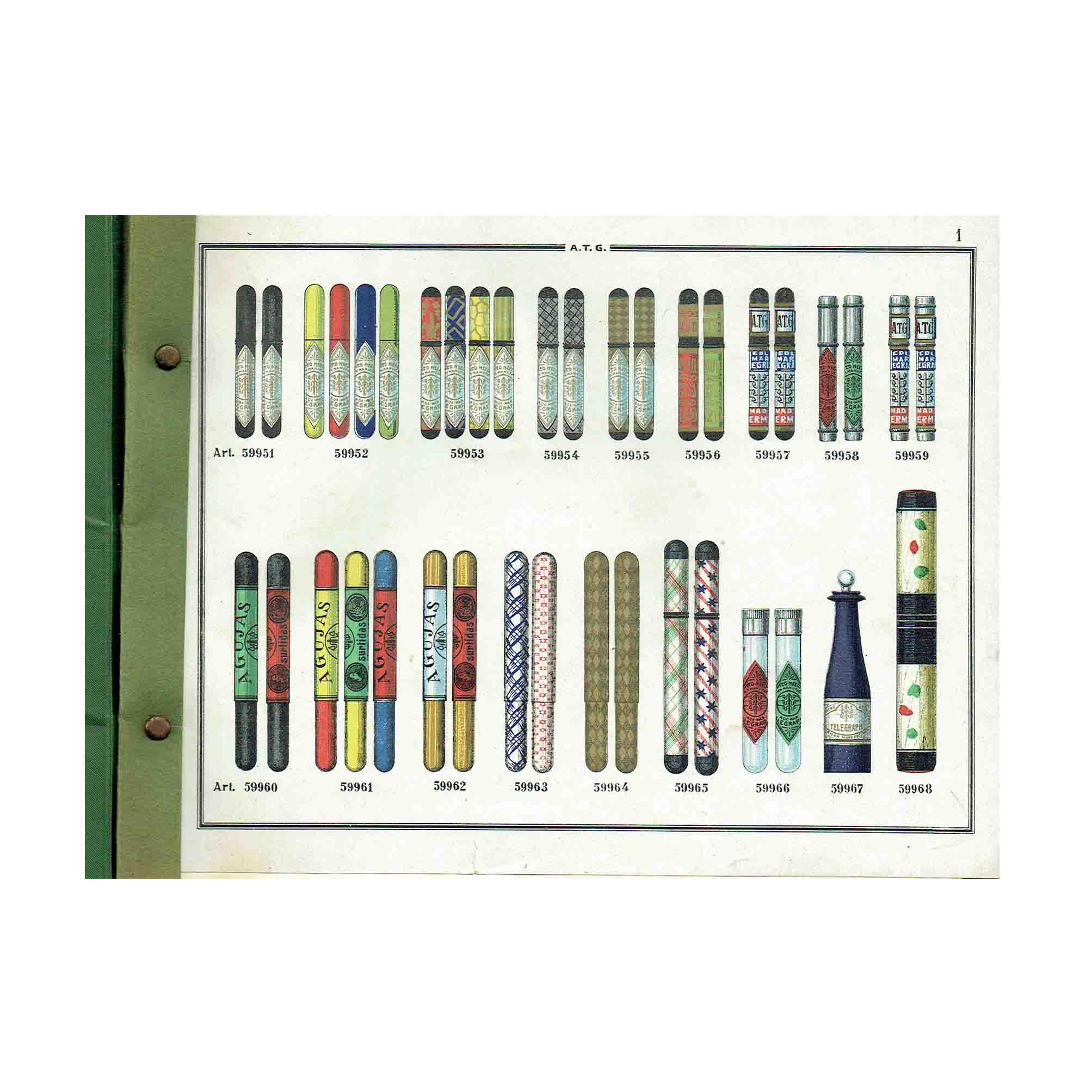 6008 ATG Catalogue Needles Pins Fish-Hooks 1900 Needle Boxes N