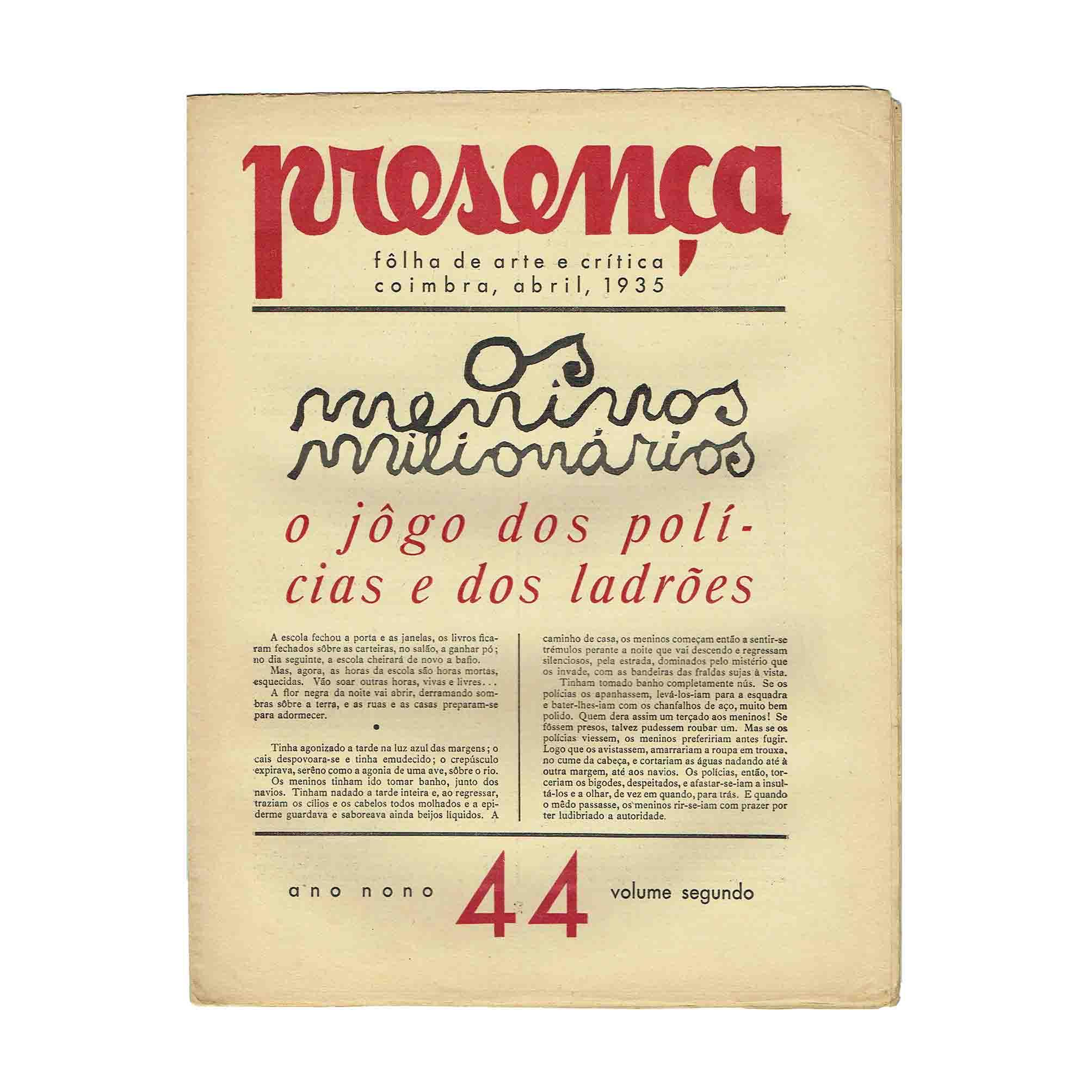 6039 Presenca 44 1935 Umschlag frei N