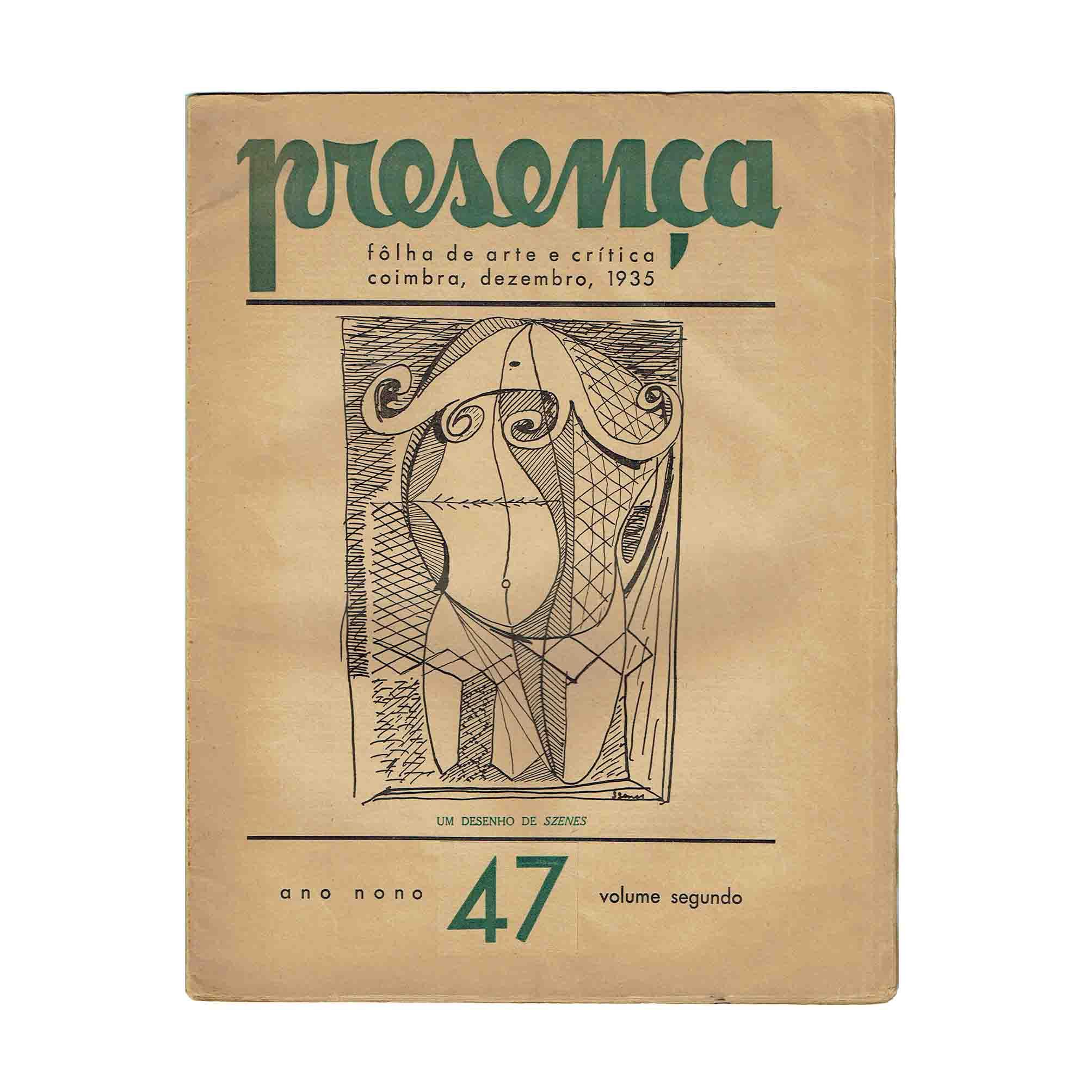 6040 Presenca 47 1935 Umschlag Szenes frei N