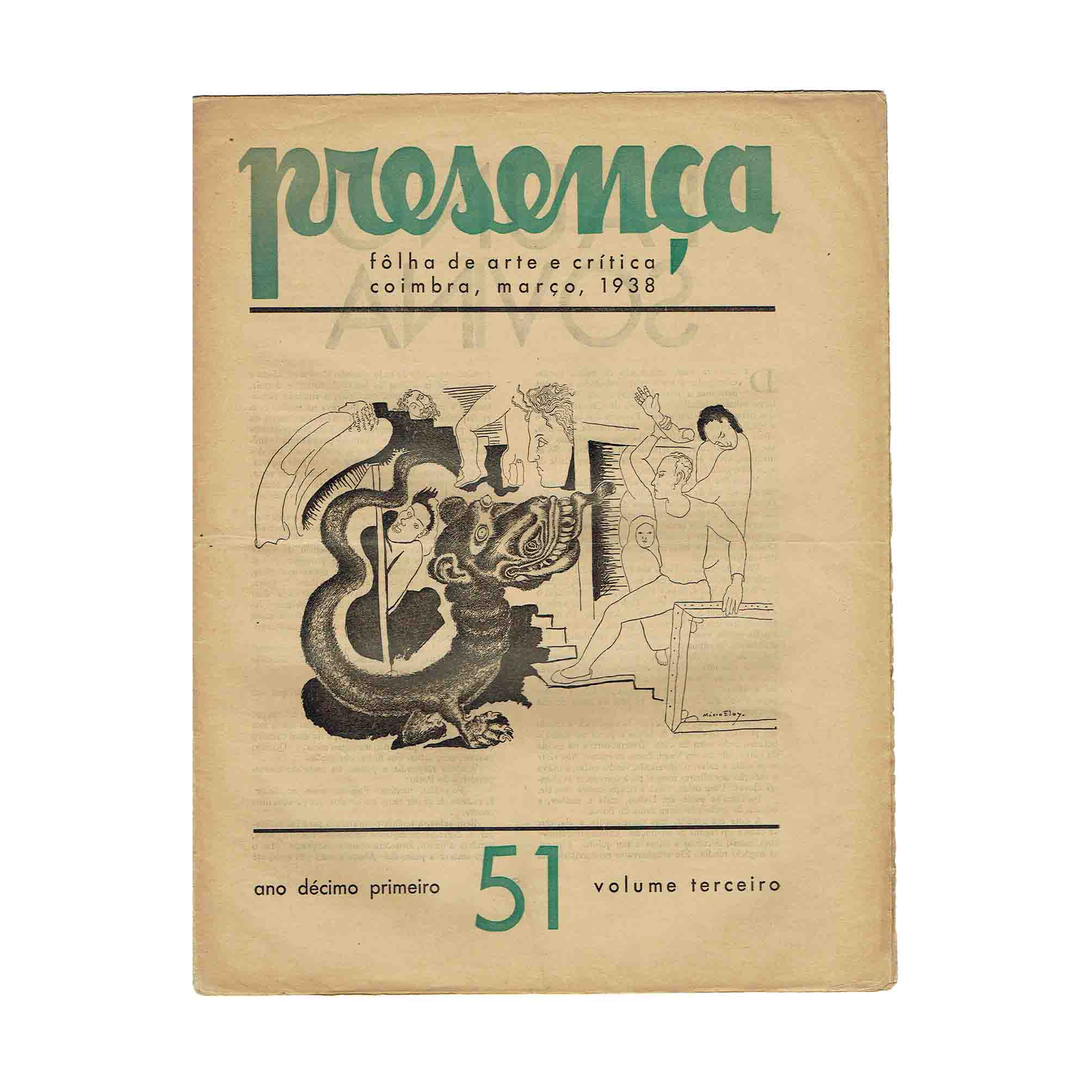 6041 Presenca 51 1938 Umschlag Eloy frei N