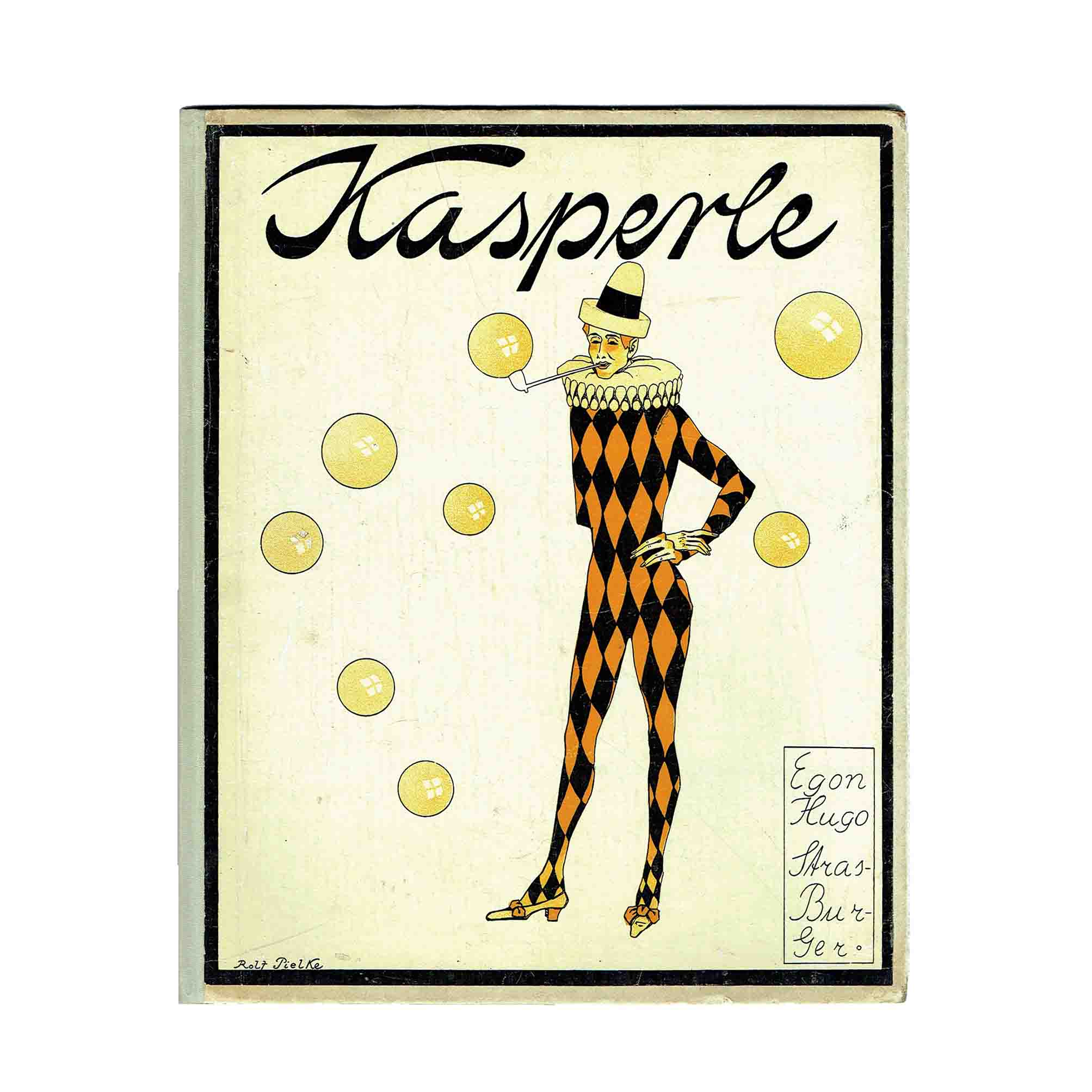 6018 Strasburger Pielke Kasperle 1912 Einband frei A N