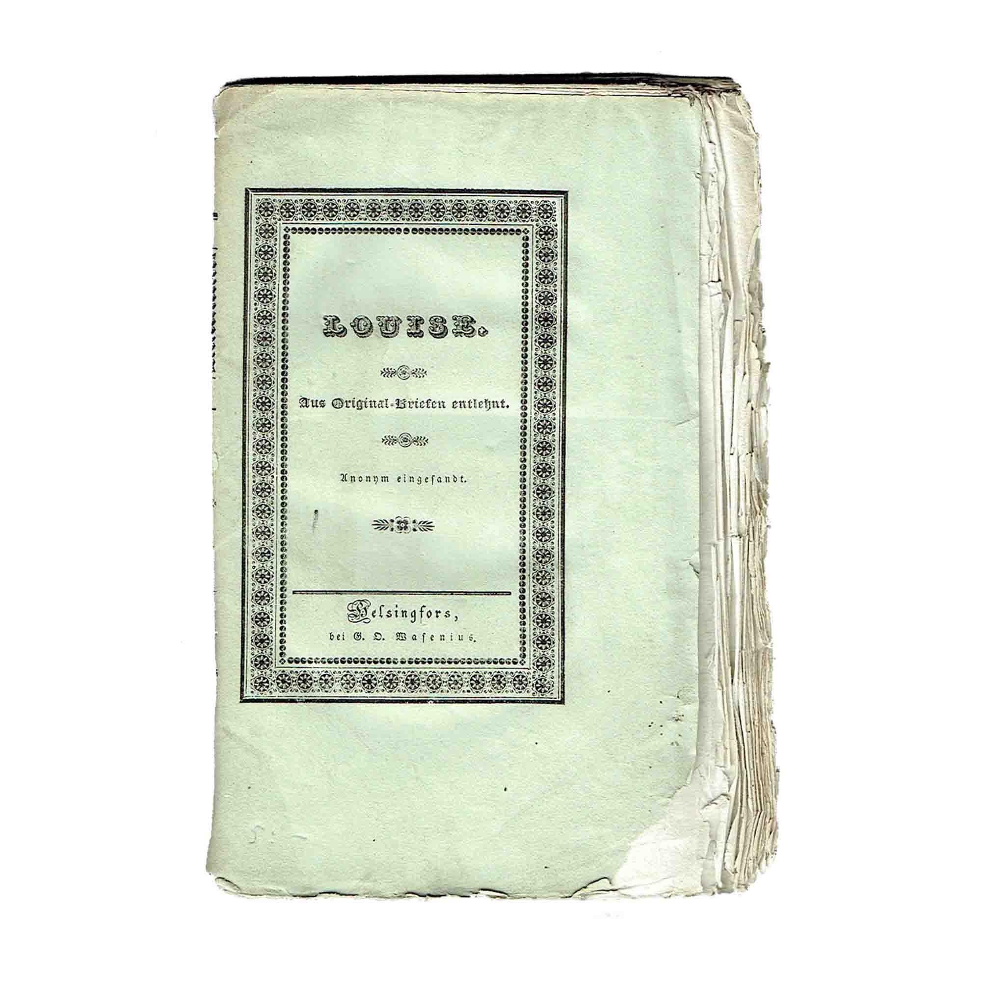 6055 Anonym Louise Helsinki 1835 Umschlag frei N